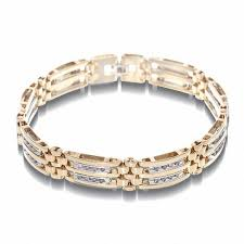 gold tone tennis bracelet images Men 39 s 1 ct t w diamond bracelet in 10k two tone gold 8 5 jpg