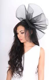 how to crinkle black hair black large crinkle fascinator hat accessories from dollywood