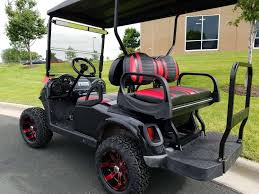 2012 ezgo rxv black and red electric golf cart