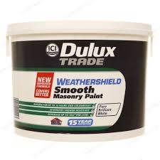 dulux trade weathershield smooth masonry exterior paint 10l