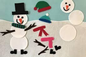 build a snowman felt activity love your littles