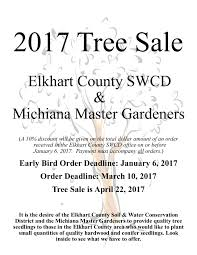 tree sales order form and species list elkhart county soil and