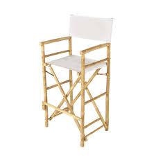 couette en bambou chaise de bar de jardin en tissu et bambou écrue robinson