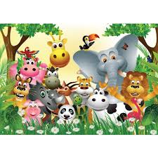 dschungel kinderzimmer fototapete jungle animals kindertapete tapete