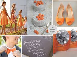 Color Combinations With Orange by A Modern Fall Wedding Orange Gray The Perfect Palette