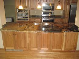 Hickory Kitchen Cabinets Granite Countertop Lowes Hickory Kitchen Cabinets Utility Sink