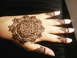 mandala flower henna simple floral mehendi design