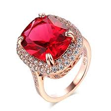 red gold rings images F f ring big red zircon rose gold color ring jewelry jpg