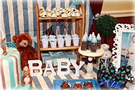 teddy baby shower decorations blue and brown teddy bears baby shower party ideas photo 5 of 27