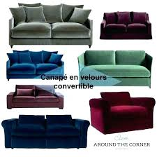 canapé convertible velours canape en velours convertible velours articles with