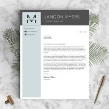 Recommended Font For Resume Professional Resume Template The Landon U2013 Landed Design Solutions