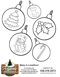 coloring ornaments for christmas tree home decorating interior