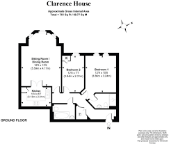 Clarence House Floor Plan by 2 Bedroom Flat For Sale In Clarence House Winchester Hill Romsey