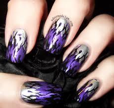 nail art unusual purple nail art image concept flower rainple