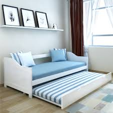 Wooden Sofa Bed White Daybed Single Pull Out Wooden Bed Frame Bedroom Sofa Guests