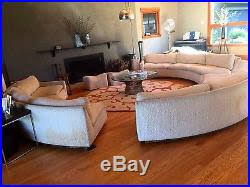 Round Sofa Sectional by Vintage Milo Baughman Thayer Coggin Circular Round Sofa Sectional