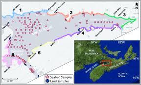 Canada Map Coloured by Coastal Retreat Rates And Sediment Input To The Minas Basin Nova
