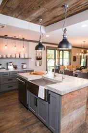 farmhouse island kitchen 40 romantic and welcoming grey kitchens for your home
