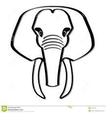 elephant head clipart black and white clipart panda free