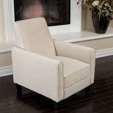 club chairs for living room amazon com lucas sleek modern beige fabric upholstered recliner