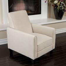 Modern Recliner Amazon Com Lucas Sleek Modern Beige Fabric Upholstered Recliner
