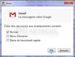 raccourci bureau gmail transformer une page web en application windows chrome