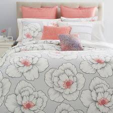 bloomingdale u0027s sky bedding blossom king duvet cover set gray coral