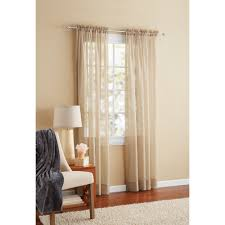 Funky Door Curtains by Mainstays Marjorie Sheer Voile Curtain Panel Walmart Com