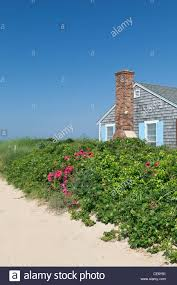 beach house wellfleet cape cod massachusetts usa stock photo