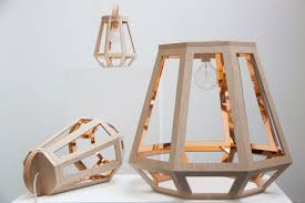 lights inspired by wood houses and mining lamps design milk