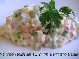 olivier cuisine olivier оливье twist on a potato salad delishably