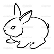 coloring wonderful rabbit drawing easy bunny clipart 2