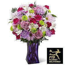 fds flowers the ftd purple pop bouquet