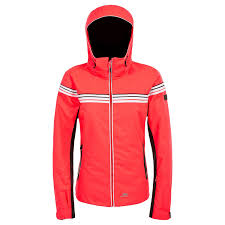 trespass womens la s clarity striped waterproof ski jacket