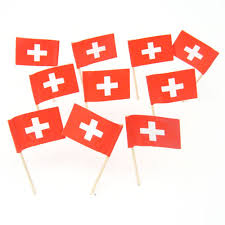 swiss flag toothpicks switzerland theme decorations