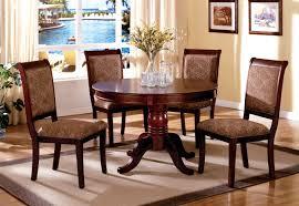 table set round table server 5 pcs cherry wood finish dining