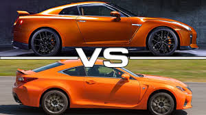 lexus rc f in orange 2017 nissan gt r vs lexus rc f youtube
