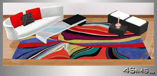Colorful Modern Rugs Designer Colorful Modern Rugs In 5 Contemporary Styles For Sims 3