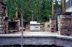 Outdoor Brick Fireplace Grill by Outdoor Patio Grill And Fireplace Natural Stone Yoder