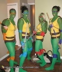 Turtle Halloween Costume Coolest Ninja Turtle Diy Group Halloween Costume Idea