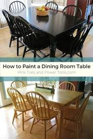 Painted Dining Room Sets Paint Dining Room Set Black Leave Top As Wood And Glass