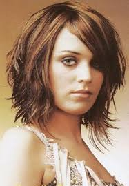 medium layered bob haircuts with bangs for women shoulder length