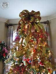 christmas tree bows the bow tree topper with the streamers to the