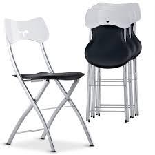 chaise pliante noir et blanc tedy lestendances fr