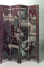 tri fold screen room divider room divider depicting an oriental dancer a musician and animal