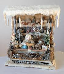 German Christmas Village Decorations by Wonderful Old German Christmas Doll U0027s House Stand From Erzgebirge