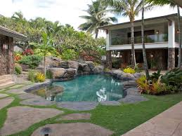 tropical pool designs garden backyard landscaping ideas for kids