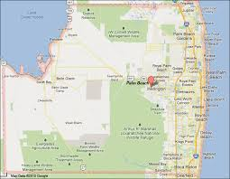 map of delray palm county florida map