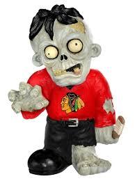 amazon com nhl chicago blackhawks resin zombie figurine black