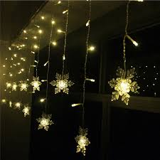 snowflake string of lights connect 5m 3 5m led curtain snowflake string light fairy lights